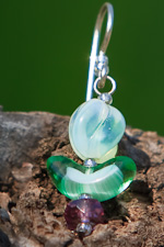 """Budding Daydream"" - vintage bead and crystal on sterling silver"