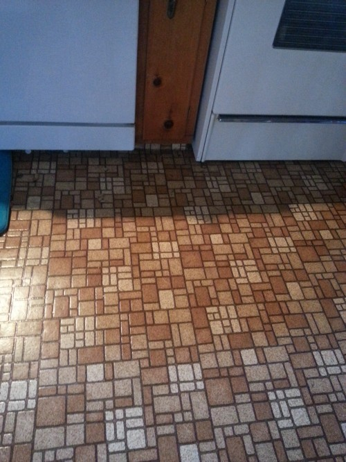 """This old house: I've actually seen these floors on the """"before"""" part of an HGTV makeover show!"""