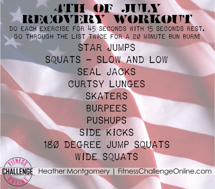 4th of July Workout to Recover from Independence Day BBQ Overlaod