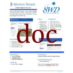 8 Women Dream Media Kit in MSWord