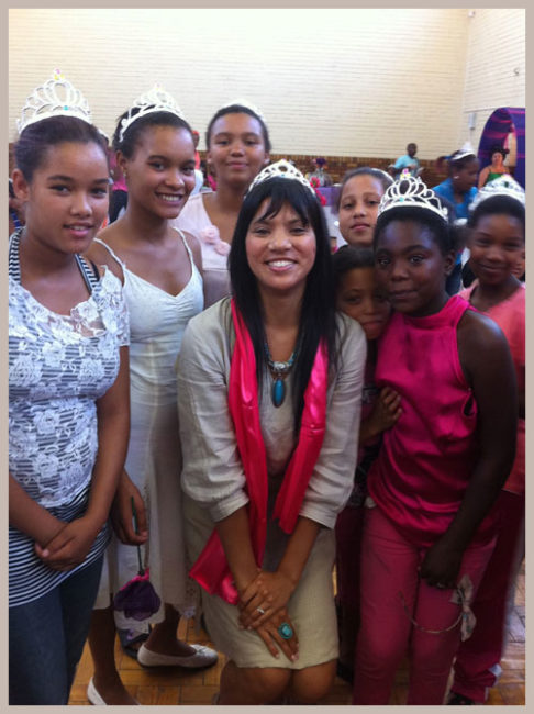 Motivating Girls: The Princess Day Project Posing with Some Lovely Girls
