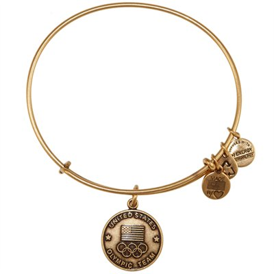 Dream Like an Olympian: Alex & Ani USA Olympics Gold Tone Expandable Charm Bracelet