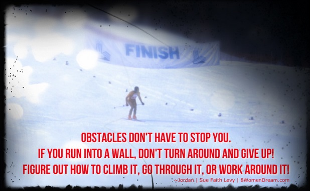 How Success After Setback is Possible: Alpine Skiing at the Olympics with Inspirational quote