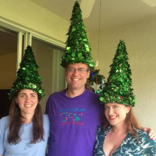 Finding Happiness in a Tropical Christmas  - My family of Christmas Coneheads