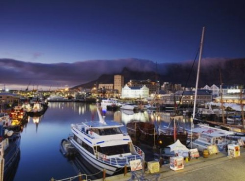 Successful Dream Achievement from Victoria and Alfred Waterfront at Dawn, Cape Town, South Africa