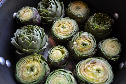 the Perfect Wine Country Dream Kitchen: Fresh artichokes from my vineyard garden