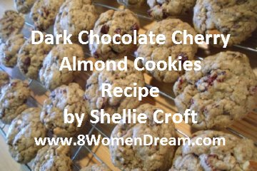 Dream Recipes: Dark Chocolate Cherry Almond Cookies