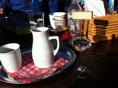 Digestif in the Hochkonig ski area, Austria