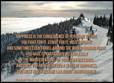 Finding Happiness in Big Sky Country - Quote by Elisabeth Gilbert on Happiness with Whitefish Montana