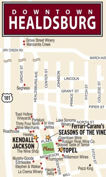 Healdsburg California Winery Map
