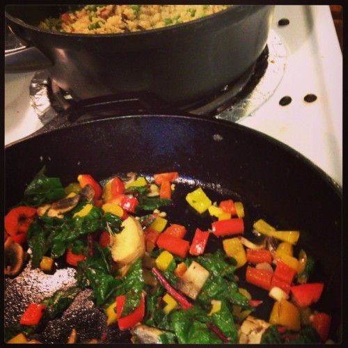 Finding Happiness By Making A House A Home: Sauteed veggies in my new home