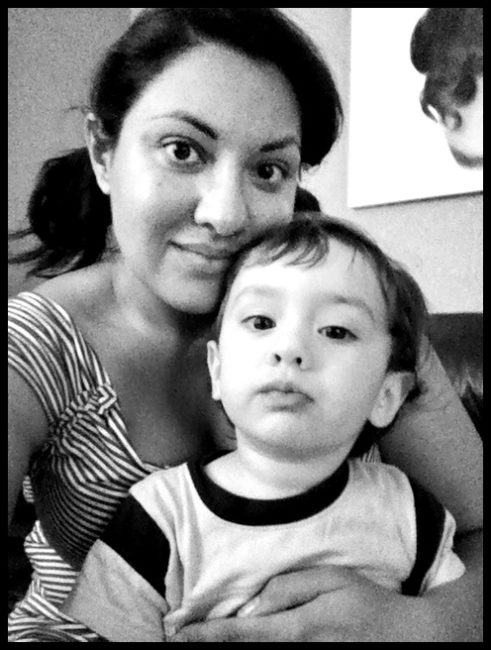 Iman and the Bub self-taken iPhone photography