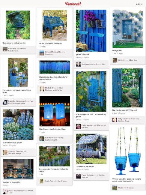 Pinterest blue garden inspiration