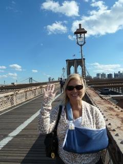The Travel Trip Test: Rayne on the Brooklyn Bridge