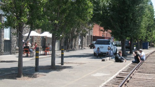 30 Years to Achieve a Dream: Santa Rosans enjoying Downtown along rail tracks