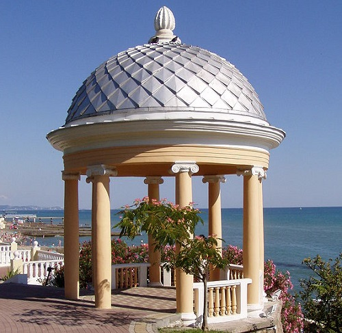 Who Else Wants to Travel to Russia? An arbour along the Sochi beach