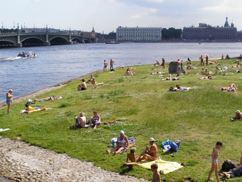 Who Else Wants to Travel to Russia? Saint Petersburg sunbathers by Natasha von Geldern