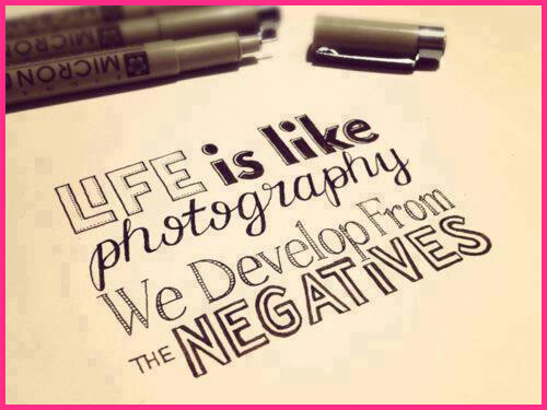Dream Advice: How to Turn Negatives Into Positives - Life is like photography