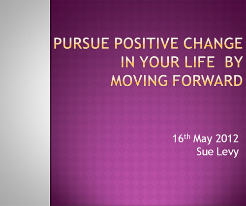 5 Steps to Pursue Positive Change: Presentation