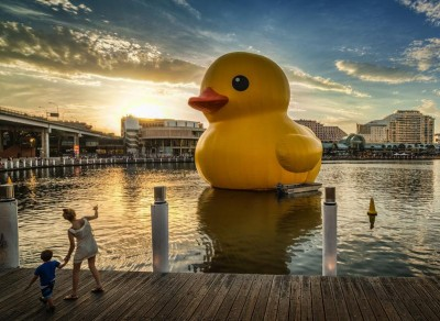Top Travel Photos Rubber Duck by Artist Florentijn Hofman and Photo by Trey Ratcliff