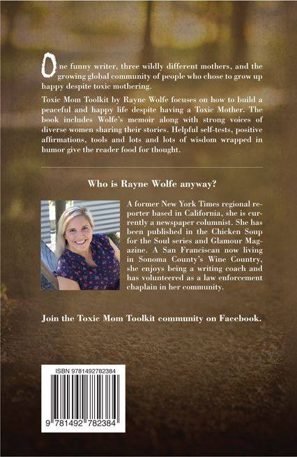 From Zero to Book Published: 8 Women Dream Style - Toxic Mom Toolkit back cover