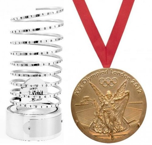 Creating the Best Blog Can Be Like Training for the Olympics: Webby statue and Olympic gold medal
