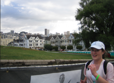 After the hill Bay to Breakers San Francisco with me running