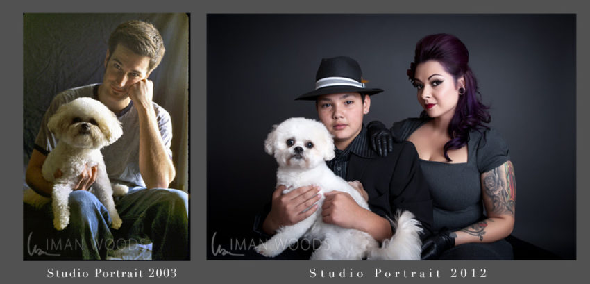 How Failure is a Perfect Part of Dream Success: Before and After studio portrait