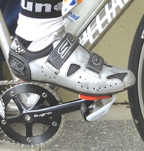 clipless pedal cycling shoes