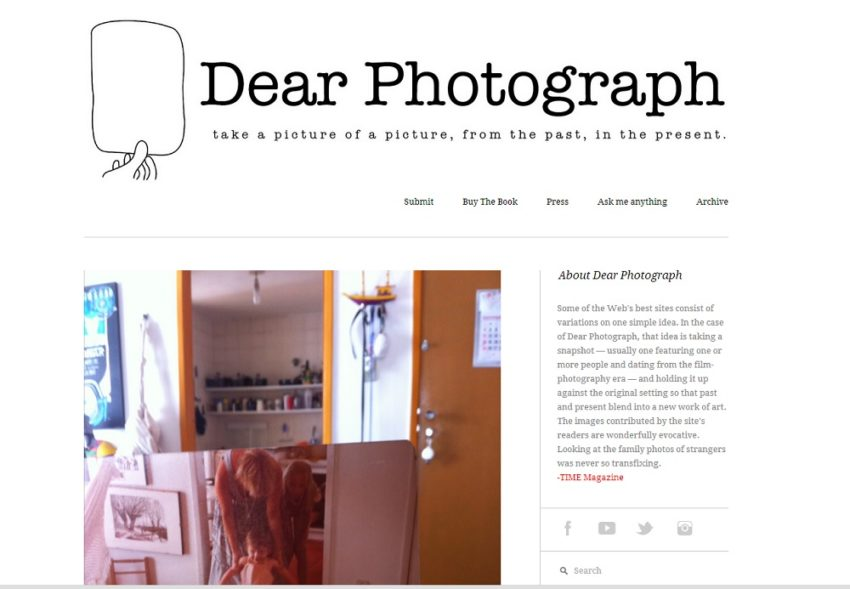 Key to Online Success: Dear Photograph