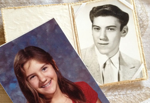 Heather at 12 and my Father at 18