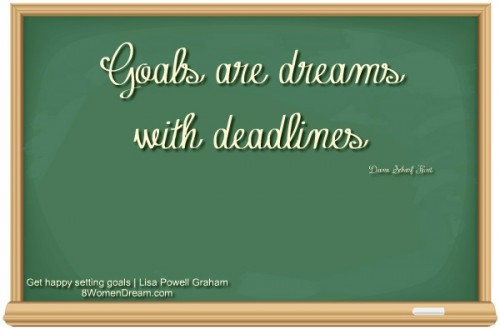 Finding Happiness Through Working on Goals - Goal setting Quote