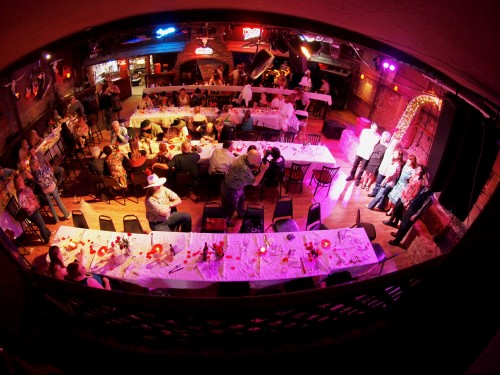 Fisheye Lens at a Country Bar Wedding