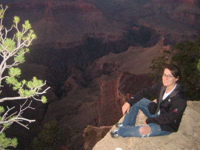 Monday off: Katie at the edge of the Grand Canyon