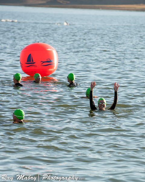 Heather Ukiah Triathlon 2013 - Floating start to swim