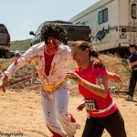 Jake out-running zombie attack