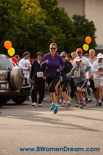 Start of the 5k run on race day at Cloverdale Harvest Fair