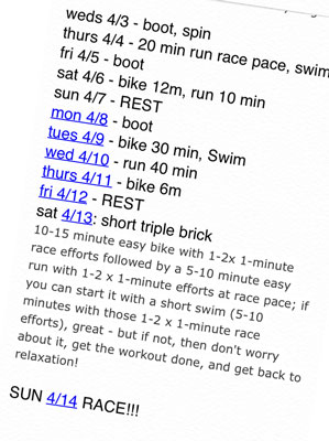 Sprint Triathlon: Taper Your Training Before Your Dream Race