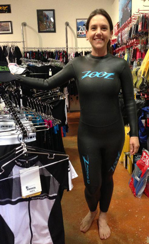 Heather Triathlon Dream - My first wetsuit test