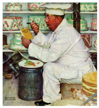 How to diet by Norman Rockwell