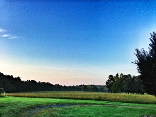 Sunrise on the farm.