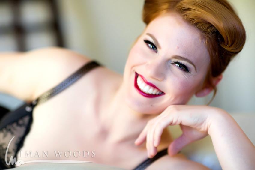 Iman Woods Pinup Therapy - Using natural light to showcase natural beauty. Lit from large windows behind me.
