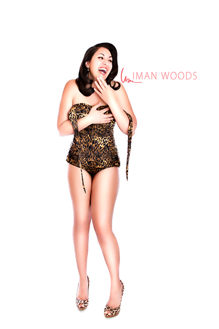 Empowering women photographer Iman Woods gets her own pinup photo shoot