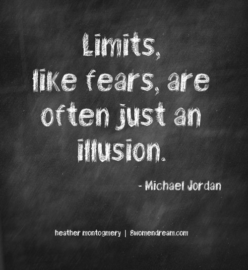 Image Quote: Limits like fears are often just an illusion - Michael Jordan