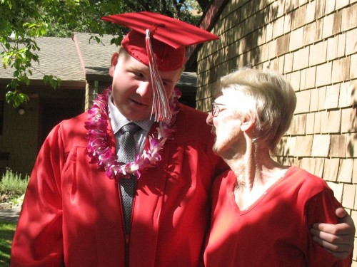 When Your Dream is a Part of an Online Revolution: My son and my mother on high school graduation day
