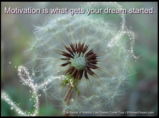 The Secret of Making Your Dreams Come True - Motivation is what gets your dream started quote