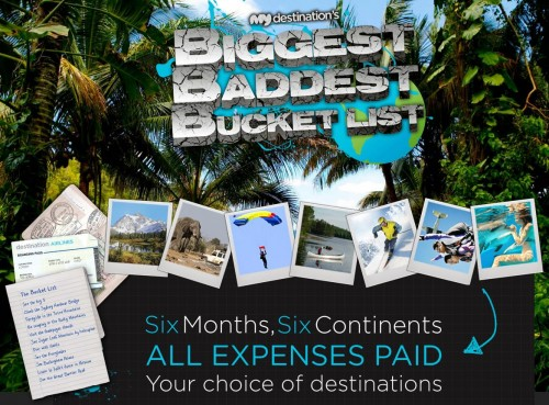 My Destinations Bucket List Dream Travel Blogger Contest