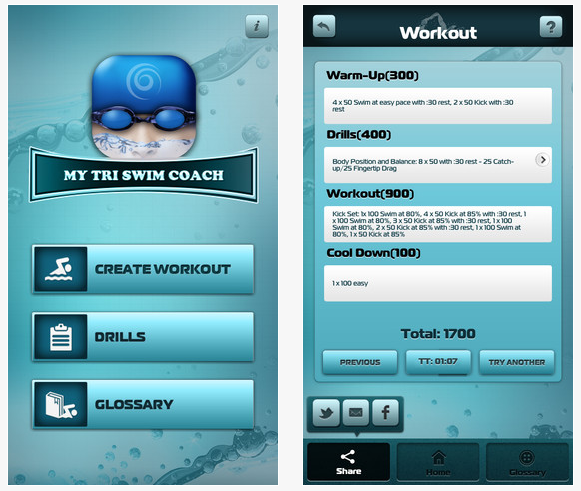 My Tri Swim Coach iPhone Apps for Triathletes