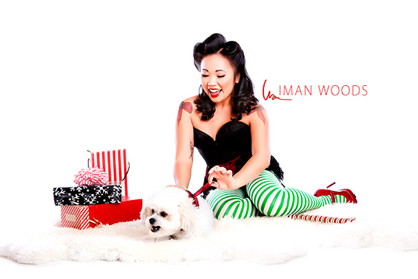 A pinup photograph of Linh. Iman's photo therapy process helps people see how beautiful they are.