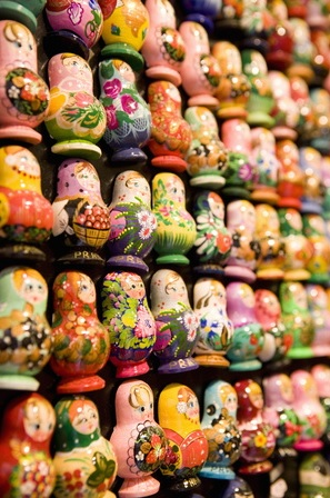 8 Sites with Great Animal Magnetism: Display of Russian Doll Fridge Magnets Buy at Art.com